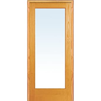National Door Company Zz19933l Unfinished Pine Wood 1 Lite Clear