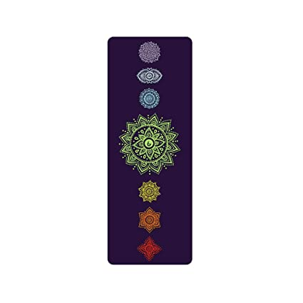 Amazon.com : Advanced Print Yoga Mat/Non-Slip/Sweat ...