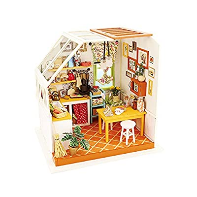 Rolife DIY Miniature Dollhouse Kit with Light-Mini House Set - Jason's Kitchen: Toys & Games