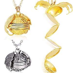 Yaomiao 2 Pièces Collier Médaillon Photo Collier Pendentif avec Cadeau Design Aile Bijoux Décoration pour la Fête des…