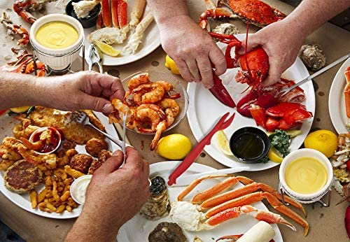 Hiware 28-Piece Seafood Tools Set - Crab Lobster Crackers and Picks Tools Service for 4, Includes Crab Leg Crackers, Butter Warmers, Lobster Shellers, Crab Forks and Tealight Candles