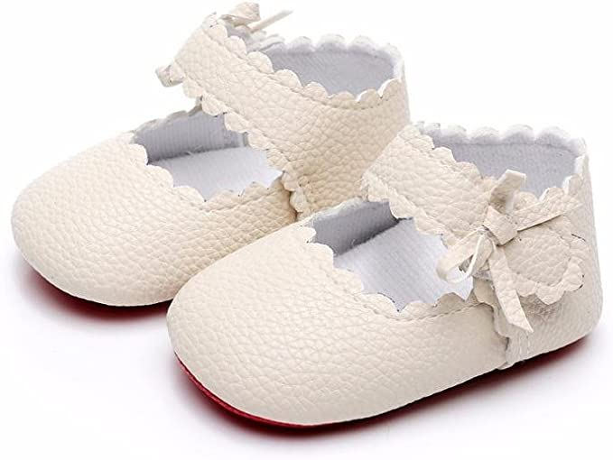 Weixinbuy Toddler Infant Baby Girls Soft Sole Glitter Princess Mary Jane Shoes