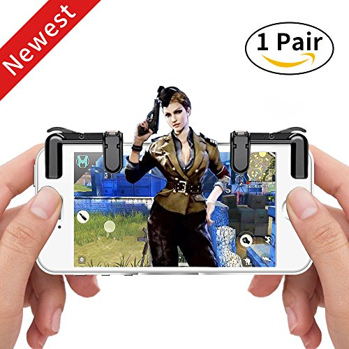 Mobile Game Controller(Newest Version), Sunba Youth Sensitive Shoot and Aim Buttons L1&R1 for PUBG/Fortnite/Rules of Survial, Cell Phone Gams of Survial, Cell Phone Game Controller for Android IOS(1 P