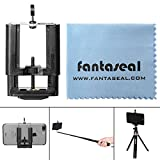 Fantaseal® Super Wide Clamp Mount for Smartphone Holder Mount Tripod Mount Phone Adapter Mobile Phone Clip Clamp Selfie Stick Monopod Tripod Mount Adapter for iPhone 7+/ 7/ 6S+/ 6S/ 6+/ 6/ 5/ 5C/ 4S/ 4 + Samsung Galaxy S8/ S8+/ S7/ S7 Edge/ J7/ S6 Edge/ S5/ Note 5/ Note 4/ Note 3 + Huawei P10/ P10 plus/ P9/ P9 lite/ P9 plus/ Mate 9/ Mate 8 Xiaomi Nexus LG HTC ZTE Sony Blackberry Nokia etc Cellphone Cradle Support Stand