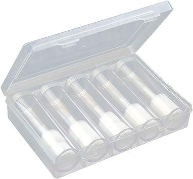 NUOBESTY Soporte de Monedas Redondo de 6 Piezas Estuche para Tubos de Almacenamiento de Monedas Transparentes con Caja de Almacenamiento (5 Tubos + 1 Caja de Almacenamiento): Amazon.es: Juguetes y juegos