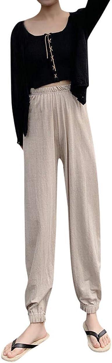 beautyjourney Mujeres Gasa Bloomers Pantalones de Tela Elegantes ...