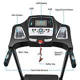 3.0HP Folding Electric Treadmill Running Machine With Heart Rate Sensor W144