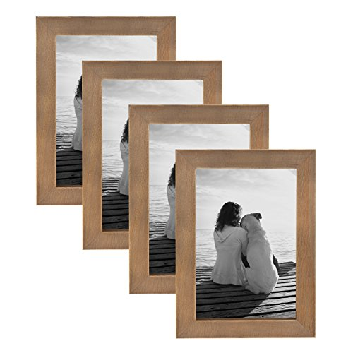 DesignOvation Gallery Picture Frame, 4x6, Rustic Brown