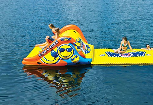WoW Watersports 18-2000 Slide N Smile Floating 2 Lane Waterslide, 9 Feet Long by WoW Sports (Image #10)