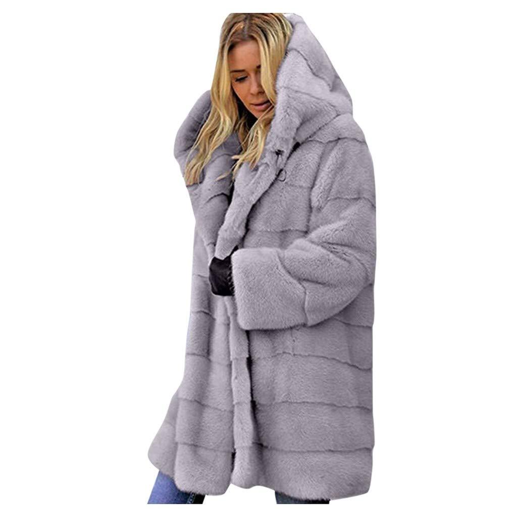 NRUTUP Soft Winter Fuzzy Fox Fur Coat Teddy Bear Fluffy Furry Outwear Petite Plus Size Faux Fur Jacket Hooded Women