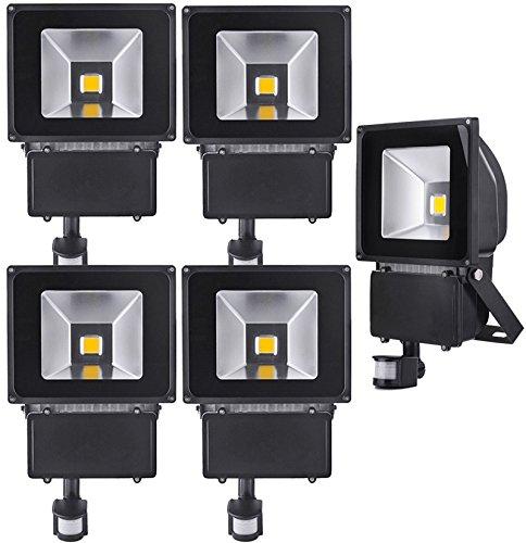 5pcs 100W Foco LED con Sensor Movimiento,ALPHA Foco Proyector con ...