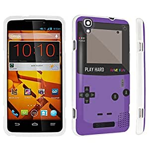 DuroCase ? ZTE Boost Max N9520 Hard Case White - (Gameboy Purple)