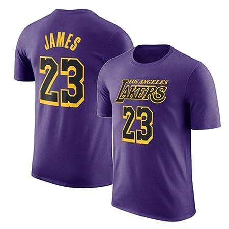 Camiseta De La NBA Lakers Camiseta De Manga Corta James 23rd ...