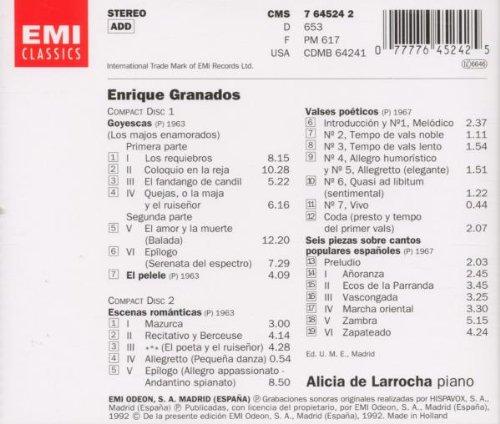 Enrique Granados, Alicia de Larrocha - Granados: Goyescas - Amazon.com Music