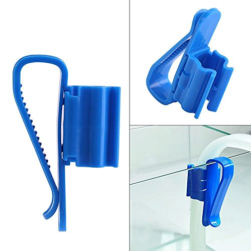 (Susun 2X Plastic Aquarium Tank Water Pipe Clamp Hose Tube Rod Fixing Clip Mount Holde (A))