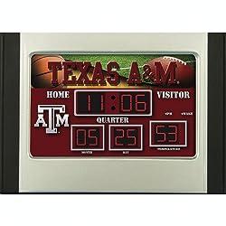 Texas A&M Aggies Scoreboard Desk Clock