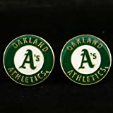 MLB Oakland Athletics Team Logo Post Earrings