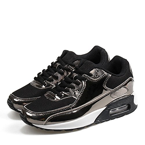Sports Paragraph Gold Women's Comfortable Retro Shoes The Shoes Black Men Black Pink Shoes Sneakers Silver36 and GAOLIXIA Running 46 Couple Same Outdoor with Women Casual 0dxwRn4U