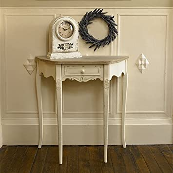 Captivating Half Moon Console Table With Drawer   Country Ash Range