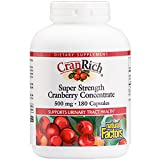 Natural Factors - CranRich Super Strength Cranberry Concentrate 500mg, Supports Urinary Tract Health, 180 Capsules