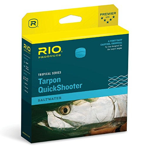 Multi Tip Fly Line (RIO Fly Fishing Fly Line Tarpon Quick shooter INT. Tip Wf10F/I Fishing Line, Clear-Tip-Sea-Grass)