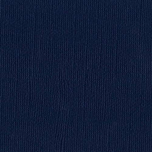 Bazzill Admiral 12x12 Textured Cardstock | 80 lb Navy Blue Scrapbook Paper | Premium Card Making and Paper Crafting Supplies | 25 Sheets per Pack ()