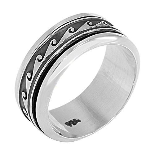 spinner-collection-mens-sterling-silver-wave-ring-size-7-includes-product-care-bundle