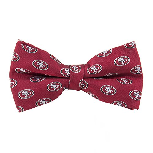 NFL San Francisco 49ers Men's Woven Polyester Repeat Bowtie, One Size, Multicolor