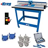 kreg micro adjust - Kreg PRS1045 Precision Router Table Built in Micro Adjuster and T-fence with Accessories Kit #1.2