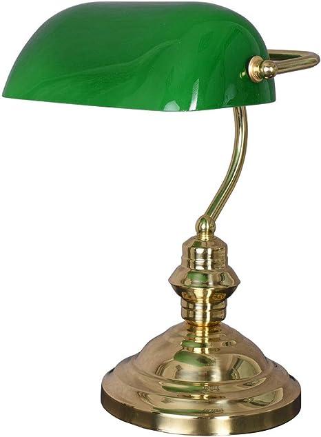 Esclusiva Lampada Da Bancario Classica In Stile Liberty Vintage Verde Amazon It Illuminazione