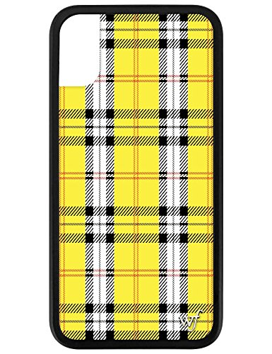 Wildflower Limited Edition iPhone Case for iPhone X and XS (Yellow Plaid)