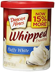 Duncan Hines Whipped Frosting, Fluffy White, 14 Ounce (Pack of 8)