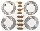 2016 Can-Am Commander Max 800R 4x4 DPS Front & Rear RipTide Rotors & Brake Pads