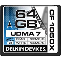 Delkin 64 GB CF 1050X UDMA 7 Cinema Memory Card...