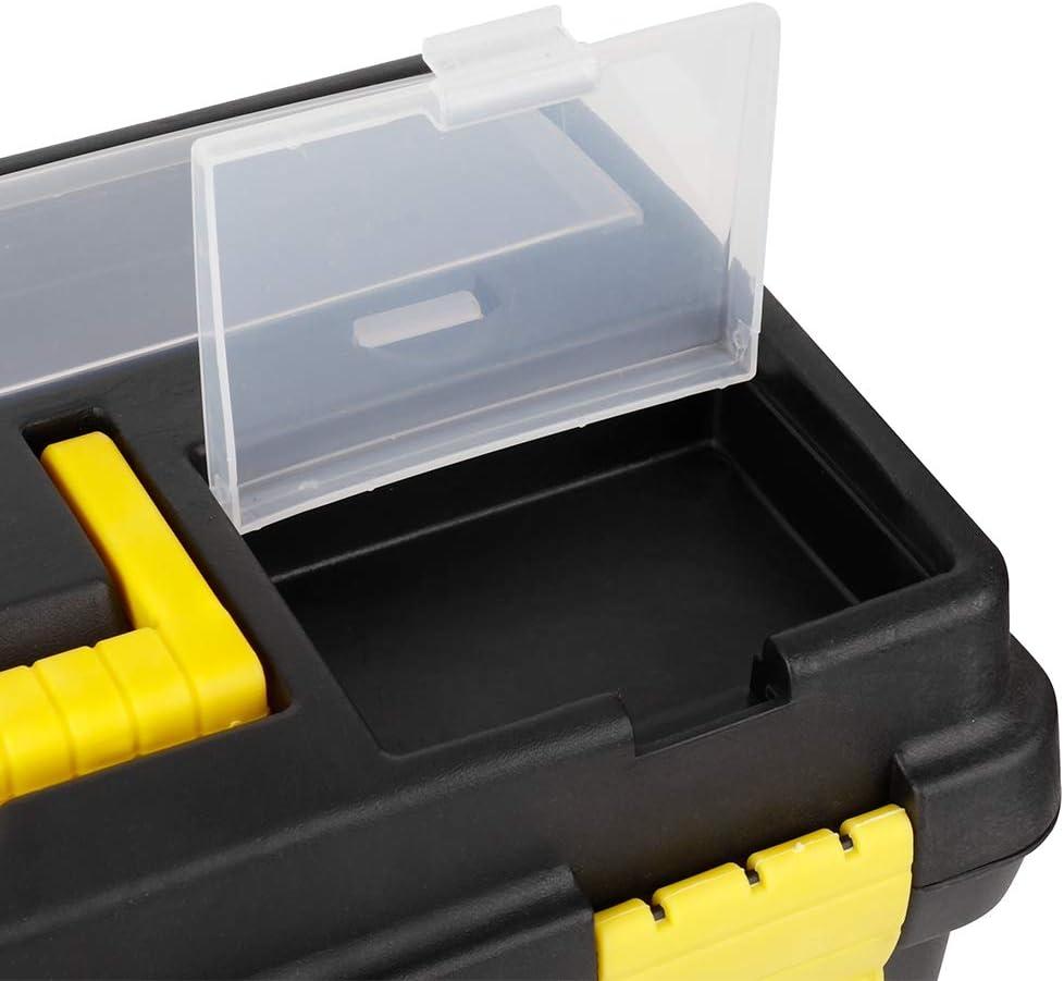Cocoarm Caja de Herramientas de pl/ástico Caja de Herramientas con Cerradura Caja de Almacenamiento extra/íble Caja de Organizador port/átil con asa