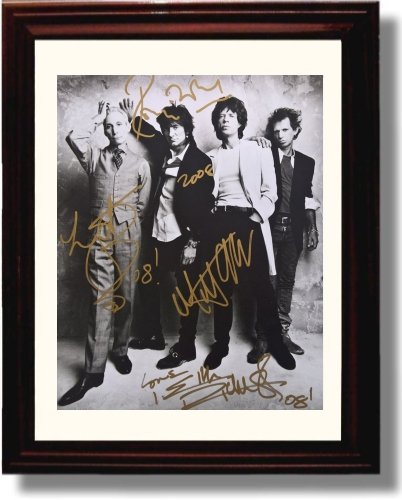 Framed Rolling Stones Autograph Replica Print