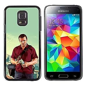 LECELL--Funda protectora / Cubierta / Piel For Samsung Galaxy S5 Mini, SM-G800 -- G T A Michael Poster --