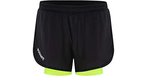 Lixada Men's 2-in-1 Quick Dry Shorts in Black only $10.40