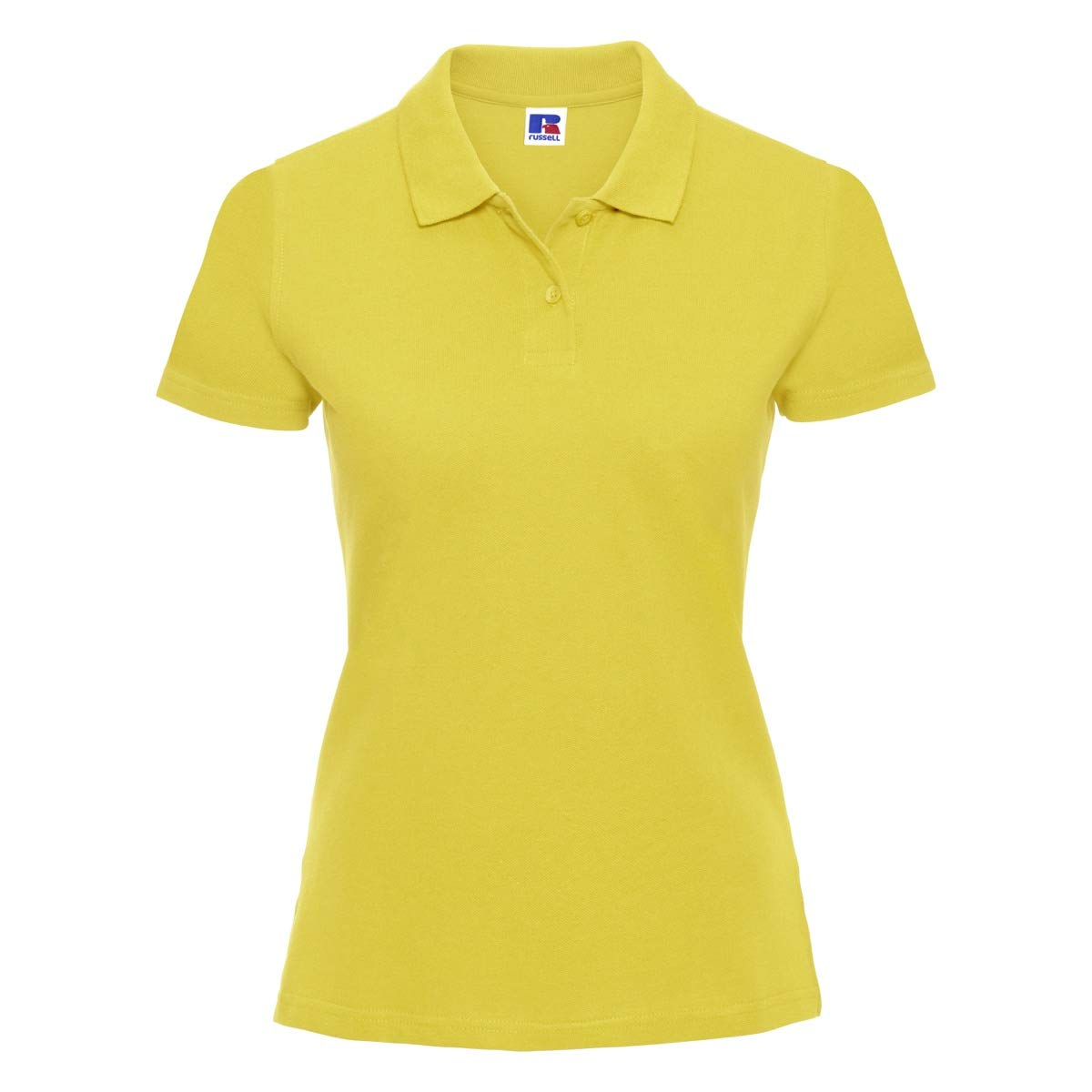 CHEMAGLIETTE Polo da Lavoro Donna Maglietta T-Shirt con Colletto 2 Bottoni Cotone Russel