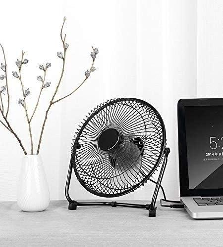 Low Noise Personal Table Mini Desk Fan,Small Metal Design USB Powered Cooling Fan Erosffs Desktop USB Fan