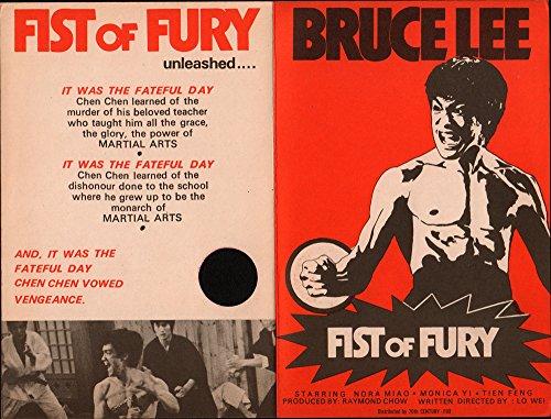 Fist of Fury Original Movie Herald 1973 Staring Bruce Lee