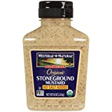 Westbrae Organic Stoneground Mustard No Salt Added-8 oz by Westbrae