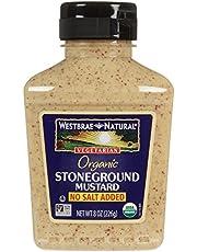 Westbrae Organic Stoneground Mustard No Salt Added-8 oz by Westbrae