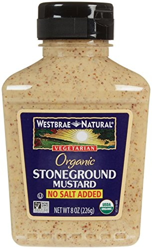 Westbrae Organic Stoneground Mustard No Salt Added, 8 Ounce ()