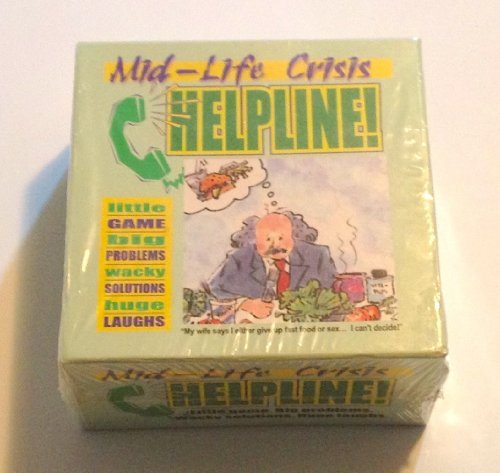 Mid - Life Crisis Helpline Game, Party Game, Gag, Gift, Funny