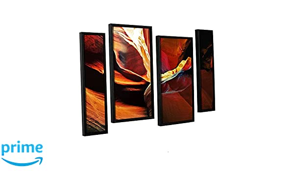 ArtWall 4 Piece Linda Parkers Slot Canyon Light from Above 2 Floater Framed Canvas Artwork 36 x 54