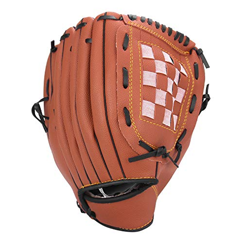 Unihoh Baseball Glove Softball Gloves - Right Hand Throw - Adult and Youth Sizes - 12,5in Size Mitts - Easy Break in Baseball Mitt (12.5 inch, Brown) (Fielders Glove)