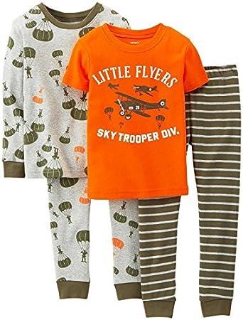 a3c962a02a64 Amazon.com   Carter s Baby Boys  4 Piece PJ Set (Baby) - Little ...