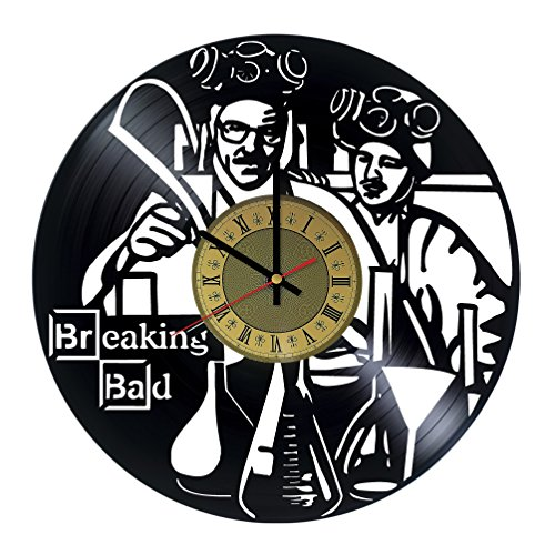 Breaking bad design vinyl record wall clock - gift idea for boyfriend, girlfriend, collegues - home & office decor kids room - customize your - Diy Breaking Bad