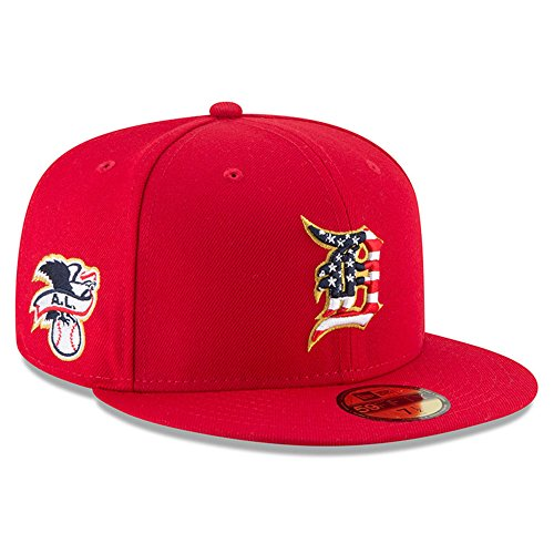 New Era Detroit Tigers Scarlet 4TH of July Cap 59fifty 5950 Fitted MLB Limited Edition